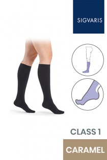 Sigvaris Essential Comfortable Unisex Class 1 Knee High Black Compression Stockings