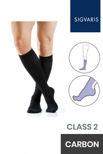 Sigvaris Active Masculine Class 2 Knee High Carbon Compression Stockings