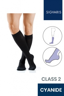 Sigvaris Active Masculine Class 2 Knee High Cyanide Compression Stockings