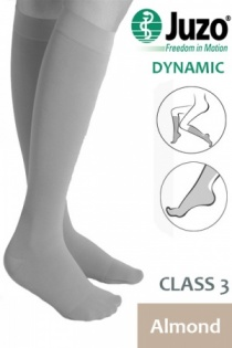 Juzo Dynamic Class 3 Almond Knee High Compression Stockings