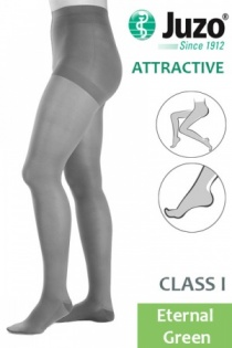 Juzo Attractive Class 1 Eternal Green Compression Tights