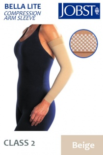 Jobst Bella Lite Class 2 Beige Compression Arm Sleeve with Dotted Silicone Band