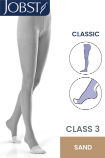 JOBST Classic Unisex RAL Class 3 Sand Compression Tights with Open Toe