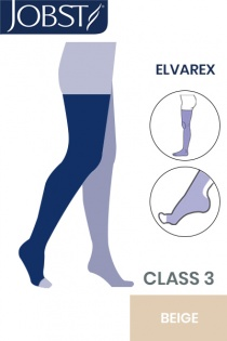 JOBST Elvarex RAL Class 3 Beige Thigh-High Compression Stockings with Open Toe