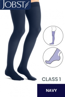 Jobst Opaque Class 1 Navy Thigh High Compression Stockings