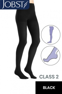JOBST Opaque RAL Class 2 (23 -  32mmHg) Black Compression Tights