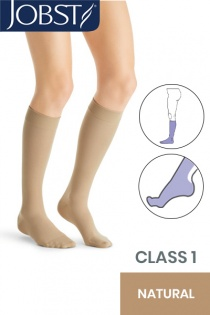 Jobst UltraSheer Class 1 Natural Knee High Compression Stockings