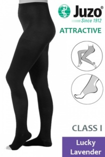 Juzo Attractive Class 1 Lucky Lavender Compression Tights with Open Toe