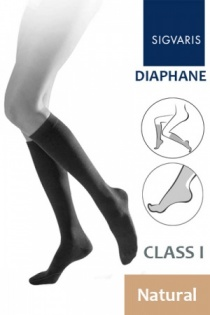 Sigvaris Diaphane Class 1 Natural Calf Compression Stockings