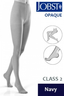 Jobst Opaque Class 2 Navy Compression Tights