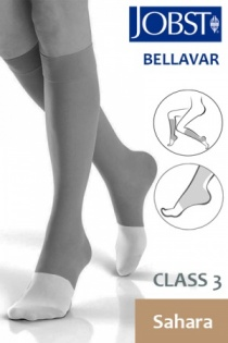 Jobst Bellavar Class 3 Sahara Knee High Compression Stockings with Open Toe
