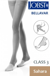 Jobst Bellavar Class 3 Sahara Thigh High Compression Stockings with Open Toe