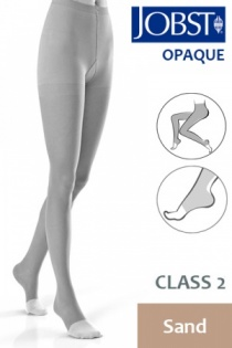 Jobst Opaque Class 2 Sand Compression Tights with Open Toe