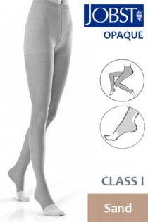 Jobst Opaque Class 1 Sand Compression Tights with Open Toe