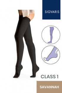 Sigvaris Essential Comfortable Unisex Class 1 Savannah Compression Tights with Open Toe