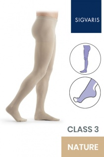 Sigvaris Essential Thermoregulating Unisex Class 3 Nature Compression Tights with Open Toe