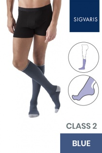 Sigvaris Style Colours Male Class 2 Blue Compression Socks