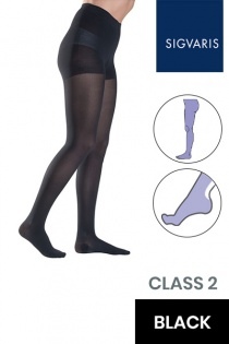 Sigvaris Style Semitransparent Class 2 Black Compression Tights