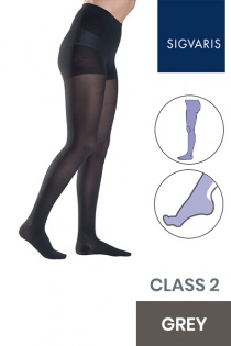 Sigvaris Style Semitransparent Class 2 Grey Compression Tights