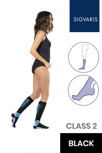 Sigvaris Active Work Wear Women's Class 2 Black Compression Socks