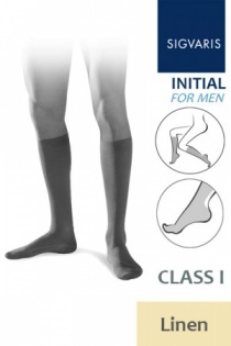 Sigvaris Initial Men's Class 1 Linen Calf Compression Stockings