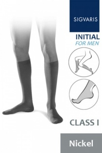 Sigvaris Initial Men's Class 1 Nickel Calf Compression Stockings