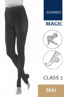 Sigvaris Magic Class 2 Skin Compression Tights with Open Toe