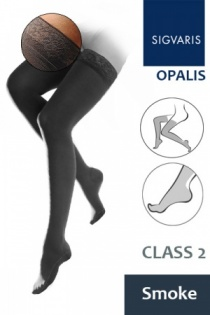 Sigvaris Opalis Thigh Class 2 Smoke Compression Stockings