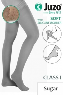 Juzo Soft Class 1 Sugar Thigh Compression Stockings with Silicone Border