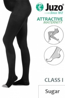 Juzo Attractive Class 1 Sugar Maternity Compression Tights with Open Toe