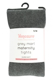 Venosure Grey Marl Supersoft Maternity Tights