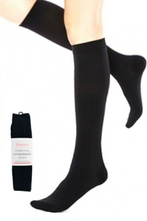 Venosure Onyx Black Maternity Compression Socks (Pack of Two)